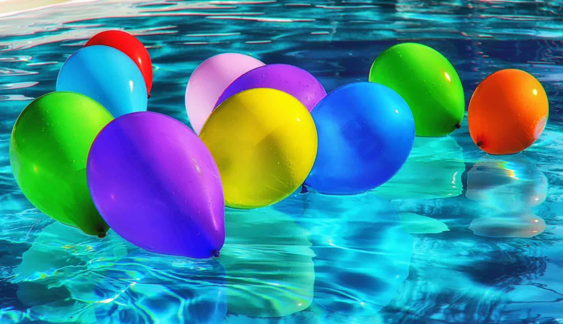 Swimming Pool Opening with Balloons