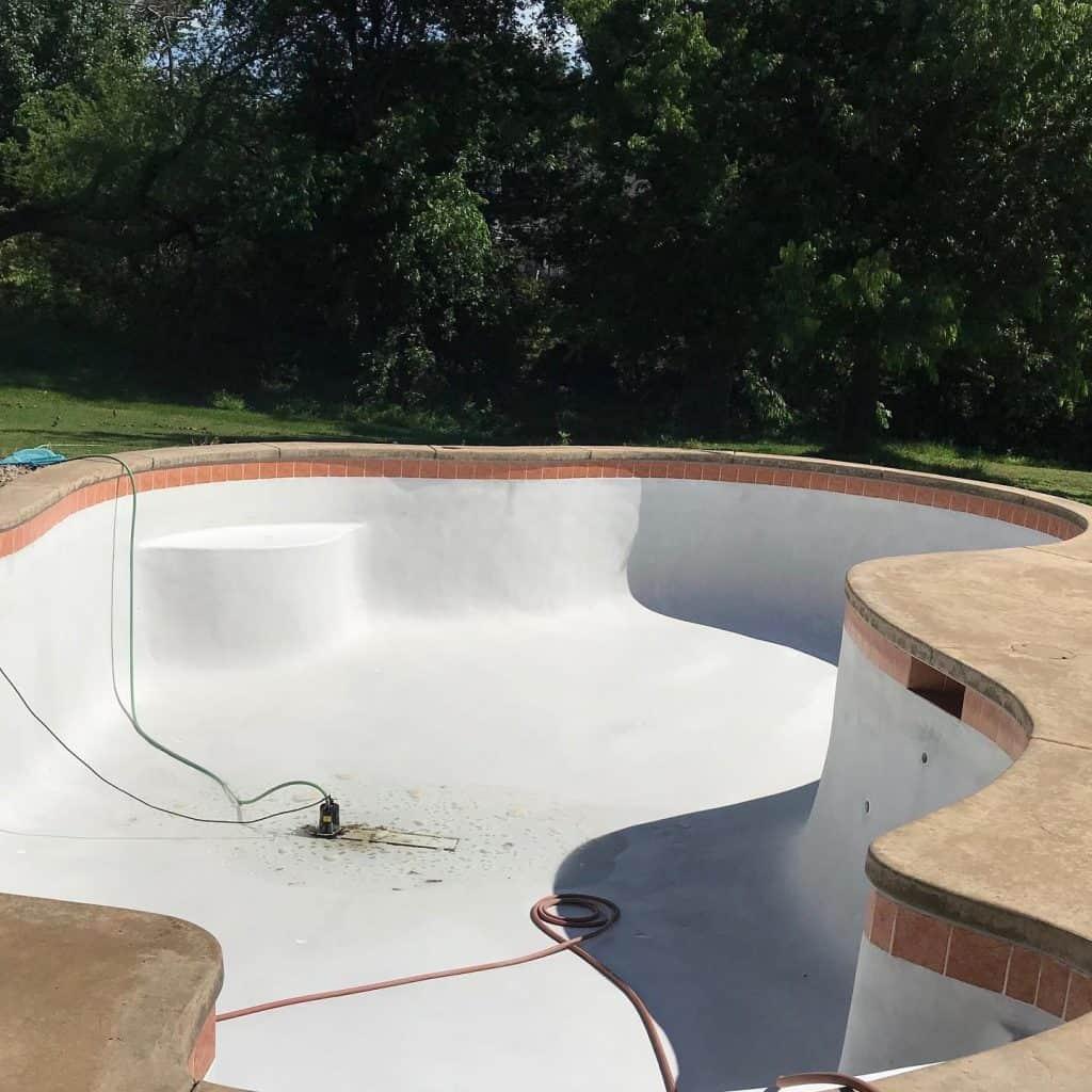 After Pool Resurfacing - Tulsa, OK
