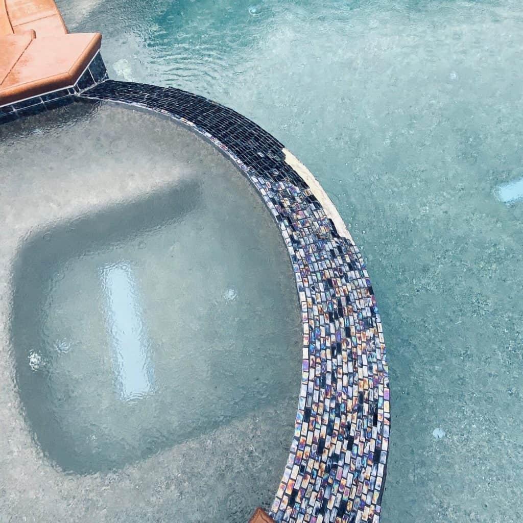 Old Worn and Missing custom Pool Tiles
