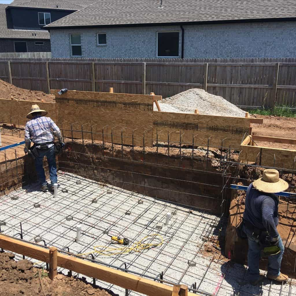 reinforce new pool with rebar